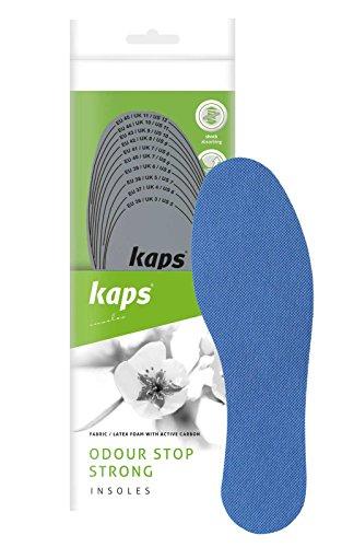 Kaps Odour Stop Strong – Semelles Intérieures Anti-Odeurs au Carbone Actif, Action Puissante Désodorisante, Toutes Tailles Disponibles, Ajustable à Découper