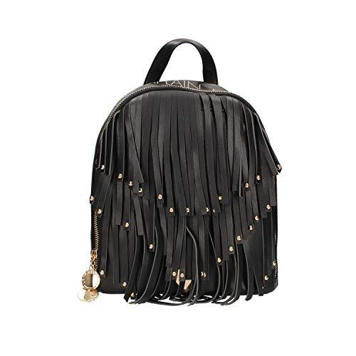 Le Pandorine ZAINETTO Vicky Backpack Fringe NEVER Black 27x23x11 cm