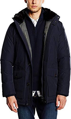 Tommy Hilfiger Tailored Herren, Parka, Mantel, ROMUS PARKA OTWSLD15413, GR. Medium (Herstellergröße: 46), Blau (marine)