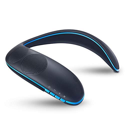 ZoeeTree ネックスピーカー ウェアラブルネックスピーカー Bluetooth スピーカー ワイヤレススピーカー 3Dサウンド 首掛け 肩掛け 軽量 内蔵マイク ハンズフリー通話 テレビ 映画 音楽 ゲームに適用