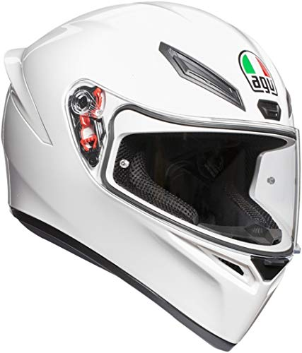 AGV K1 E2205 Solid, Casco Moto Unisex-Adulto, Bianco, L