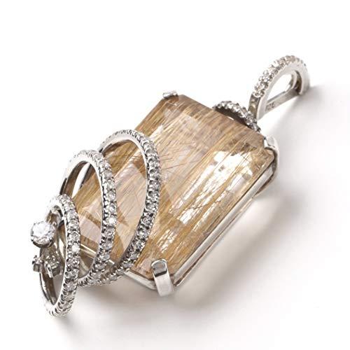ゴールド ルチル ルチルクォーツ 50.3ct 大粒 天然石 パワーストーン ペンダントトップ ネックレス