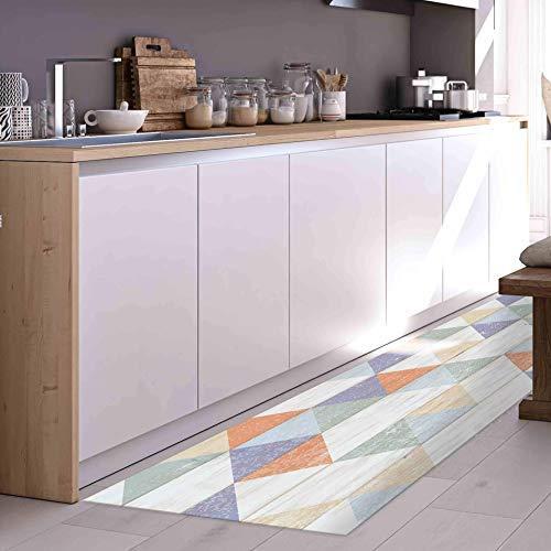CREARREDA Tappeto cucina Colour Wood 50x120 passatoia cucina antiscivolo, lavabile, ignifugo e antigraffio 100% Made in Italy