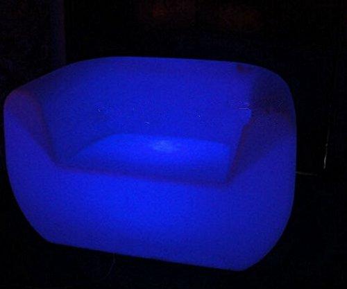Gowe LED rechargeable Canapé Fauteuil LED Lumineux Multi Usage ronde Décoration de votre Salon, chambre, jardin, piscine, terrasse, etc.