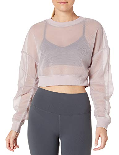 Alo Yoga Women's Row Long Sleeve, Lavender Cloud, Large