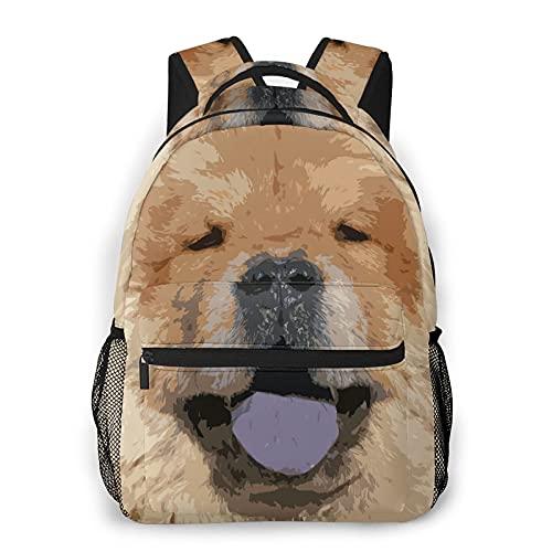 SXCVD Mochila informal,Perro Chow Retrato Mascota Piel Animal Peludo Fleece Lindo C,Mochila para portátil de negocios,Mochila de viaje de senderismo para hombres,mujeres,adolescentes