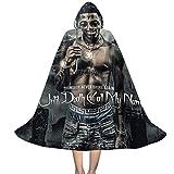 YRUI N-B-A Young-Boy Call My Name - Capa con capucha para disfraz de Halloween, color negro y pequeño