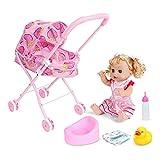 Kacniohen Baby Doll Stroller Pieghevole per Bambini Baby Doll Carrozzina Passeggino Giocattolo con...