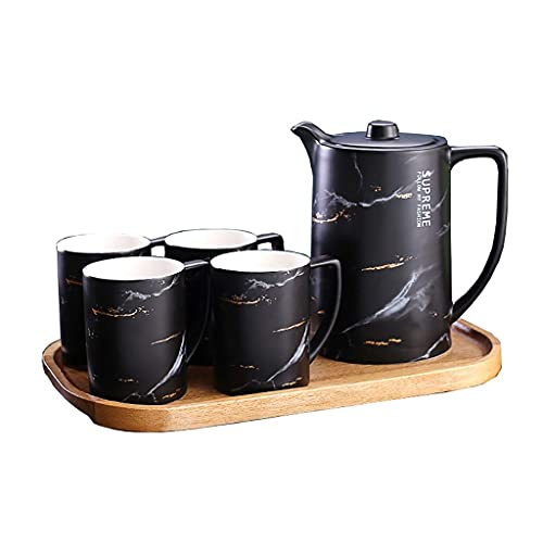 FGDSA Tea set ceramics Coffee cup English afternoon teacup Simple Household Water cup 6-piece set (Color : B)