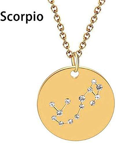 Yiffshunl Necklace Necklace Gemini Libra Astrology Zodiac Necklace Women 12 Constellation Star Statement Jewelry Horoscope Sign Necklace