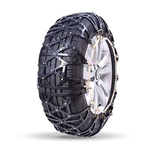AWJ Cadenas de Nieve para neumáticos de Coche de 2 Piezas Cadenas de Nieve de Coche en Goma Antideslizante, tracción de Emergencia Antideslizante para Coche Cadenas de n