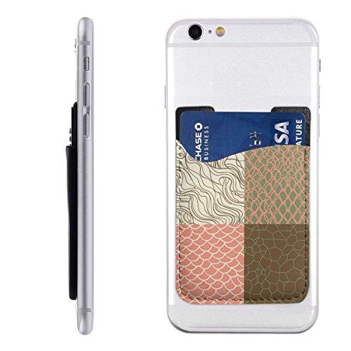 Gustave Tomlinson Nahtloses Textur-Set im Hippster-Stil Handyhalter-Rucksack-Brieftasche, PU-Kleber-Aufkleber-ID-Kreditkarten-Brieftaschen-Handyhülle