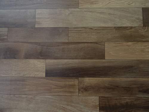 PVC Bodenbelag in lebhafter Plankenoptik, braun (9,95€/m²), Zuschnitt (2m breit, 2m lang)