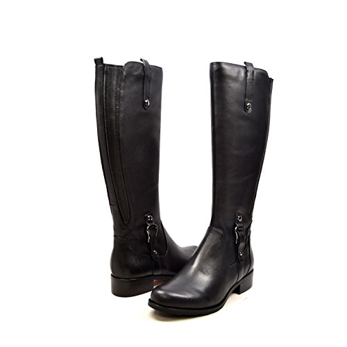 Solemani Venetian 13' Slim Calf Women's Leather Boot (6.5, Black)