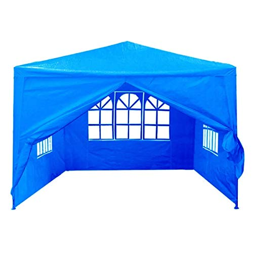 GJNVBDZSF Outdoor Tent, White/Blue/Red 3mx3m 4 Side Walls Cover Traveling Camping Tent Sunshade Dome Tents