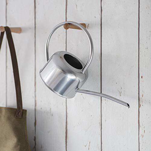 CKB Ltd® Gießkanne, klein, 1,1 l, für Zimmerpflanzen, modernes Metall-Design mit schmalem Auslauf und hohem Griff