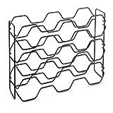 Metaltex Botellero de 15 plazas, Negro, 43 x 12 x 34 cm