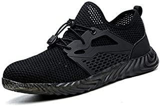 UPSTONE Mens Steel Toe Safety Work Shoes, Lightweight Breathable Casual Outdoor Athletic Slip Resistant Fashion Sports Sneakers