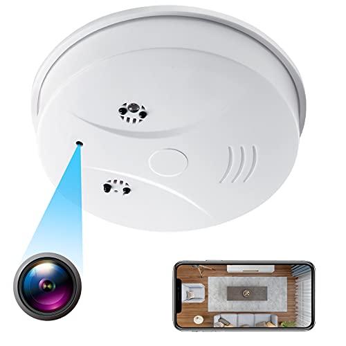 小型カメラ WiFi超小型カメラ 隠しカメラ 火災報知器型カメラ 1080P画質 128GB 遠隔操作 モーション検知 自動警報 暗視撮影 iPhone Android対応 日本語取扱説明書付