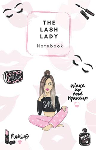 The Lash Lady Notebook: A5 Notebook - 100 pages