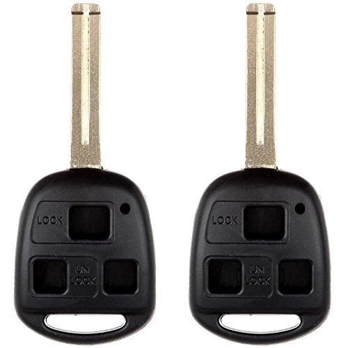 ECCPP Replacement for 2X 3 Buttons Key Fob 03-09 Lexus Key Remote Car Keys 01-05 Lexus for Lexus Antitheft Keyless Entry Systems Series HYQ1512 HYQ12BBT HYQ1288T