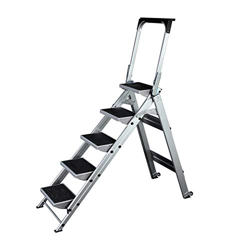 Geweldige vouwladder stapladder van aluminium vouwladder anti-slip draagbare trapladder voor thuis kantoor huis garage schoonmaken decoreren schilderijen ladder robuust