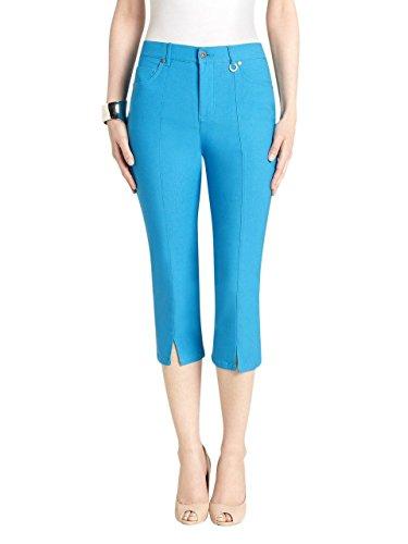 Simon Chang Slit Front Capri Pants Style #3-5353