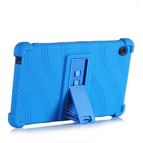 SsHhUu Funda para Lenovo Yoga Smart Tab/Yoga Tab 5, Funda Carcasa Ligera de Silicona a Prueba de Golpes con Soporte para Lenovo Yoga Smart Tab/Yoga Tab 5 YT-X705F 10.1 Pulgadas 2019, Azul