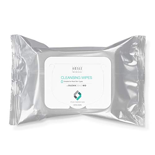 Obagi Medical On the Go Cleansing and Makeup Removing Wipes, 25 count Pack of 1