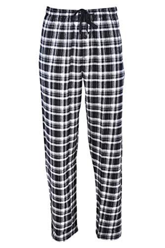 Hanes Men's 100% Cotton Flannel Plaid Pajama Pant, Black, Small
