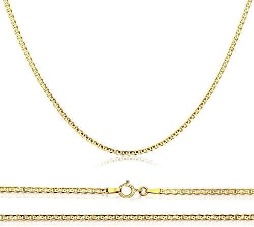 10K Gold Flat Mariner, 1.5MM Marina Anchor Link...