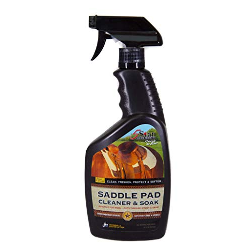 5 Star Equine Horse Saddle Pad Cleaner & Soak - Works on Horse Blankets, Wool and as a Leather Cleaner - Cleans,
