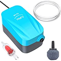 Awesome Price for a Whole Air Pump Kit comes with Check Valve, Air Stone and 1.5m Air Tubing Great for up to 30 L small size fish tank, suitable for any Tropical, Freshwater or Marine aquariums 2 Watt, 1.8 L/min, Pressure: 0.012 MPa WHISPER QUIET < 4...