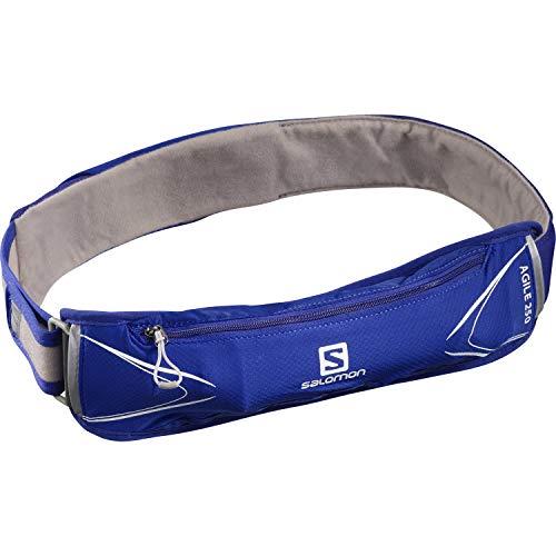 Salomon Agile Cinturón unisex de 250 ml con longitud personalizable y bolsillo frontal expandible para trail running
