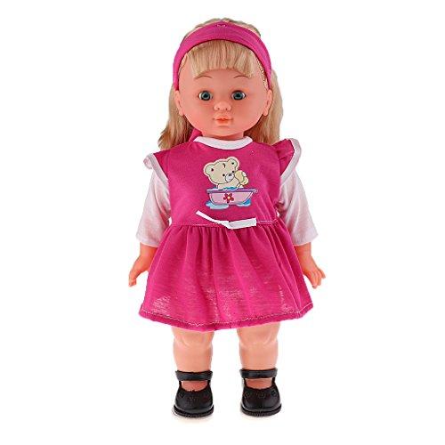 Generic Mignon Fille Poupée Réaliste En Chantant & Marchant Vinyle Doll Jouet Cadeau Bébé Enfant