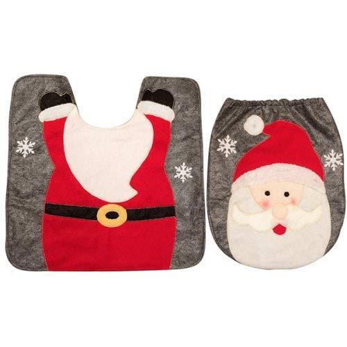 WZhen Kreative Weihnachtsdekoration Toilette Matte Bodenmatte Für Badezimmer - Braunzucker Deer