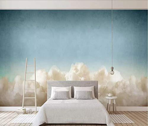 Fototapete 3D Effekt Nordische Traum, Himmel, Wolken Im Hintergrund Mauer Tapete Vliestapete Wandbilder Wanddeko