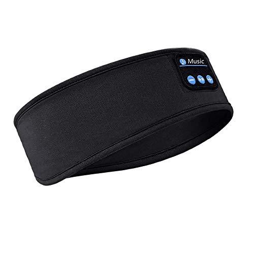 POHOVE Schlafkopfhörer 5.0 Bluetooth Kopfband, weich, kabellos, Musik, Sport, Stirnbänder mit HD HiFi Audio, Schlaf-Headsets mit eingebauten Lautsprechern, perfekt für Workout, Laufen, Yoga