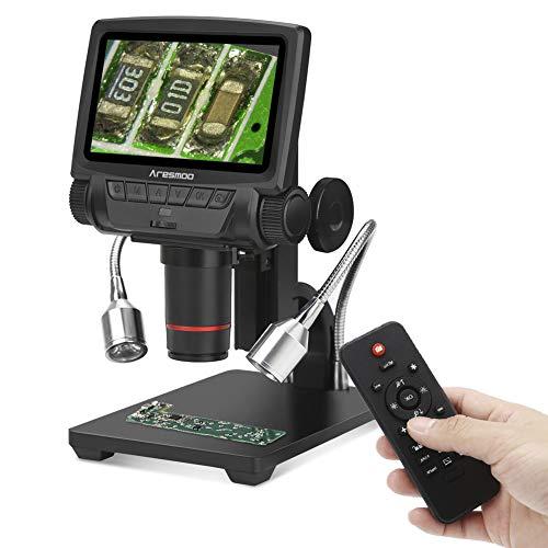 Koolertron Digital Mikroskop , 5 Zoll 1080P HDMI / AV DigitalMikroskop Kamera Video Recorder Microscope für Windows mit 8 LEDs