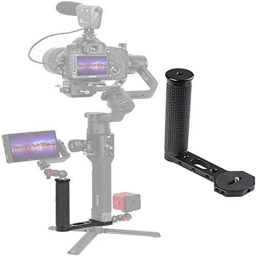 """Doble Empuñadura de Empuñadura con un Tornillo Universal de 1/4"""" Compatible con dji Ronin-s/dji Ronin S/Zhiyun Crane 3 / Smooth 4 Gimbal para Monitor de Video Adaptador de Montaje de micrófono"""