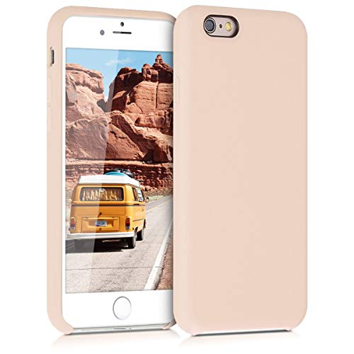 kwmobile Hülle kompatibel mit Apple iPhone 6 / 6S - Handyhülle gummiert - Handy Case in Perlmutt