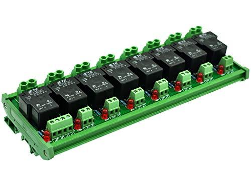 ELECTRONICS-SALON montaje en carril DIN bobina 12 V 8 canal pasivo SPST-NO 30 A 30Amp Relé de potencia módulo.