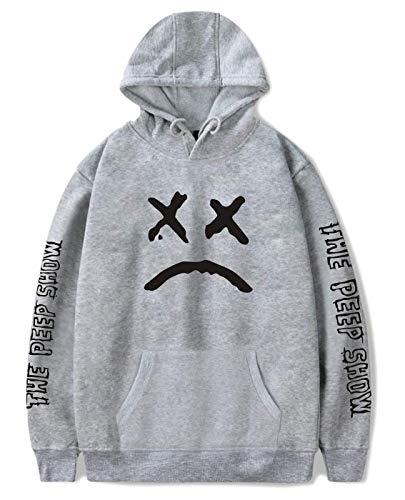 ShallGood Unisex Kapuzenpullover Männer Frauen Lil Peep Hoodie Emo Rap Coole Pullover Crybaby Spotlight Straßen Fashion Sweatshirt Für Mädchen Und Jugenden Grau 2X-Large
