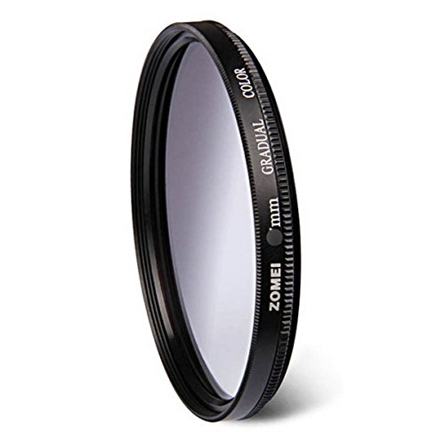 flycoo Zomei profesional filtro de color graduación Circular degradado–77mm gris