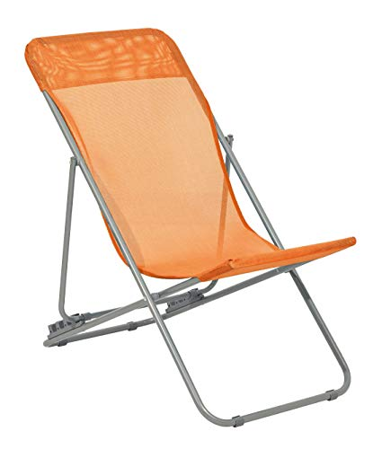 Haberkorn Liegestuhl für Kinder Gartenstuhl Liege Strandliege orange