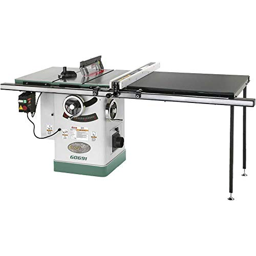 Grizzly Industrial G0691-10' 3HP 220V Cabinet Table Saw with Long Rails & Riving Knife