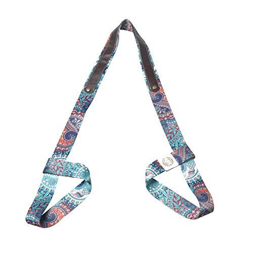 TXYFYP Yogamatte Band, Baumwolle Multifunktionales Yoga Gurt mit Einstellbare Kissen Riemen und Stretch Riemen für Yoga Matten und Fitness Matten - Mandala, Free Size