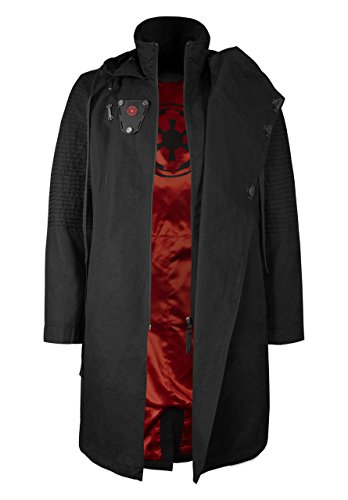 Musterbrand Star Wars Cappotto Uomo Sith Lord Giacca Nero XS