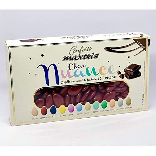 Confetti MAXTRIS CHOCO NUANCE colore BORDEAUX cioccolato fondente 1 KG