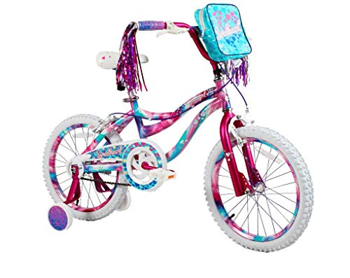 Your Little Girl is Going to Love Riding Around With Adorable,Sturdy and Super Safe to Ride 18' Girls Sweetheart Bike,With Handlebar Bag,Adjustable and Removable Training Wheels,Unique,Multicolor